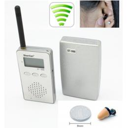 Wireless Audio Spy Kit Transmitter Receiver Earpiece