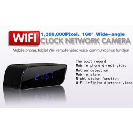 160 Angle WiFi Alarm Clock Camera